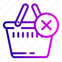 bag, cart, cencal, complete, ecommerce, shopping icon