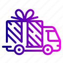delivery, gift, logistics, shipping, truck icon