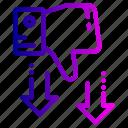 dislike, rate, rating, thumb icon