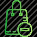 bag, basket, buy, cart, ecommerce, remove, shopping icon