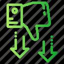 dislike, rate, rating, thumb, unlike icon