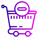bag, cart, checkmark, complete, ecommerce, remove, shopping icon