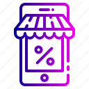 account, discount, mobile, money, payment, shopping icon