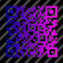 code, qr, quick, response icon
