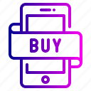 account, buy, mobile, money, payment, shopping icon