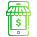 account, dollar, mobile, money, payment, shopping icon