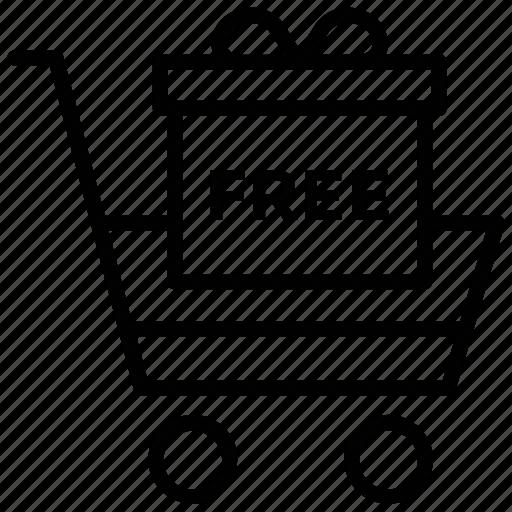 ecommerce, free shopping, online shopping, shopping cart, shopping trolley icon