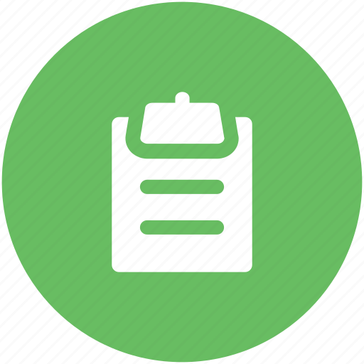 clipboard, documents, list, paper, plan list, record, shopping list icon