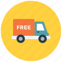 delivery, free, shipment, shipping icon icon