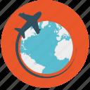 abroad, global, international, overseas, travel, world, world tour icon icon