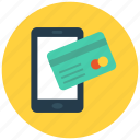 atm, card, credit, mobile, payment, phone, smart icon icon
