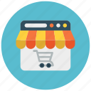 cart, e-commerce, internet, online, shopping, web page, webpage icon icon