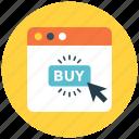 buy, click, e-commerce, onlin shop, shopping, web button icon icon
