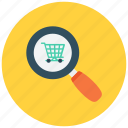 cart, find search, shopping, shopping cart icon icon
