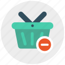 basket, delete, minus, shop, shopping icon icon