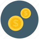 coin, coins, dollar, payment icon icon