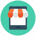 mobile shopping, mobile store, online shop, online shopping, shopping icon icon