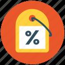 discount, percent, percent tag, price tag, sale, shop, tag icon icon