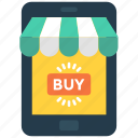 buy, mobile, online, phone, shopping icon icon