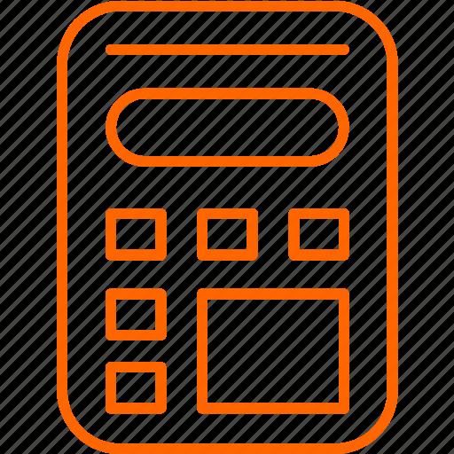 calculator, math, shop icon