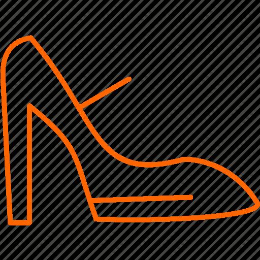 online, shoes, shop, women icon