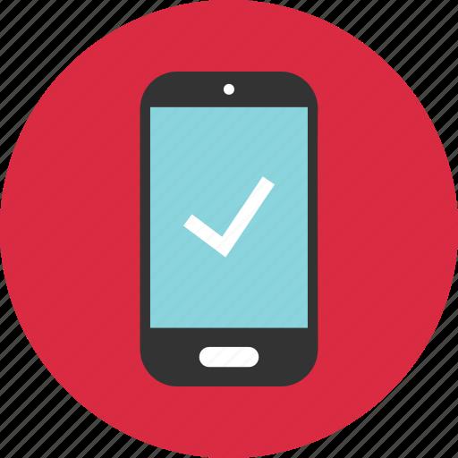 check, mark, mobile icon