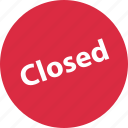 closed, online, shop, shopping icon