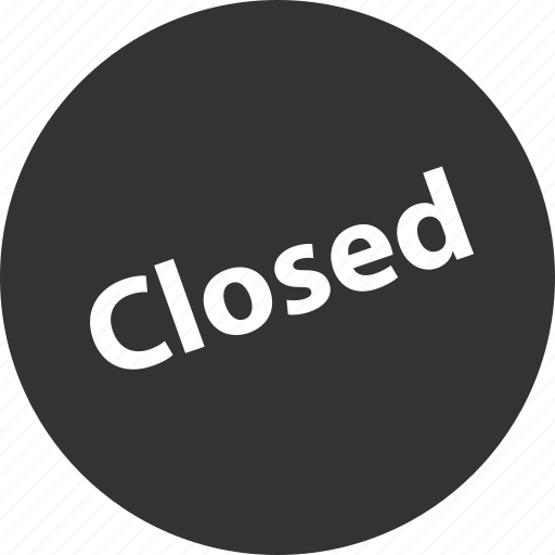 closed, shop, sign icon