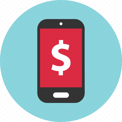 dollar, mobile, sign icon