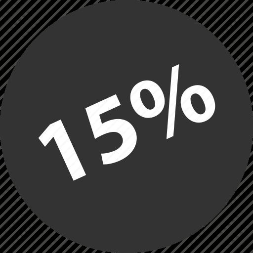 fifteen, percent, shop icon
