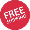 free, shipping, shop icon