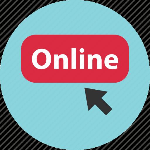 click, online, shop icon