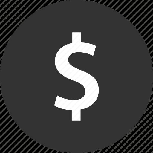 dollar, money, shopping icon