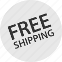 free, shipping, shopping icon