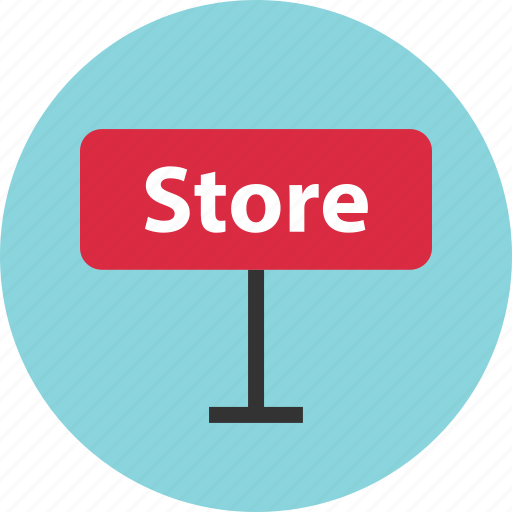 buy, sign, store icon