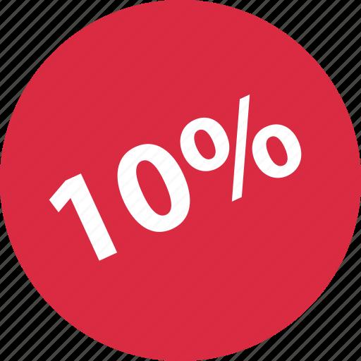 percent, savings, ten icon