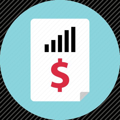 analytics, money, report icon
