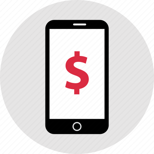 cell, mobile, money, pay icon