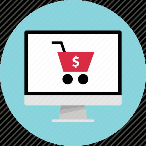 addtocart, dollar, pc, shop icon