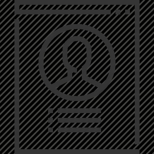 account, address, avatar, orders, profile, settings icon