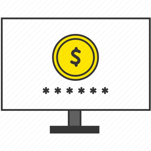 buy, coin, ecommerce, money, monitor, pc, smart payment icon