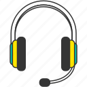 customer service, headphone, headset, music, sound icon