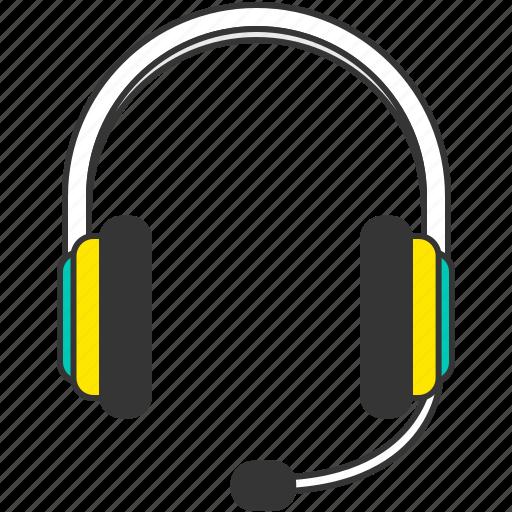 customer service, headphone, headset, music, sound icon
