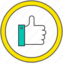 approve, bravvo, finger, good, right, social network icon