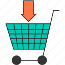 buy, cart, commerce, download, ecommerce, shopping cart, shopping trolley icon