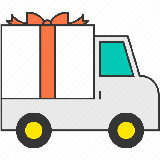 box, delivery, gift, shipping, transport, truck, vehicle icon