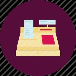 buy, cash, cash box, cash register, pay, register, shopping icon