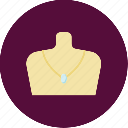 accessories, apparel, buy, jewel, necklace, pendant, shopping icon