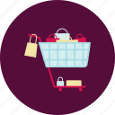 buy, cart, new, shopping, shopping bag, shopping cart, shopping trolley icon
