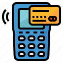card, credit, machine, pay, payment icon
